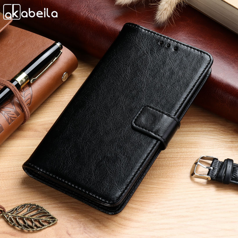 AKABEILA Cases For Elephone S8 S 8 6.0 inch Leather Wallet Phone Cover Case Housing Business Holster
