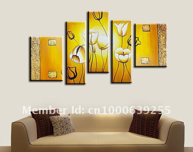 handmade modern 5 piece canvas art oil painting unique gift for home ...