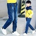 Grandes calças de brim do menino novos chegada das crianças calças de roupas primavera criança 2017 meninos calças moda 7-15 anos marca adolescente calça jeans