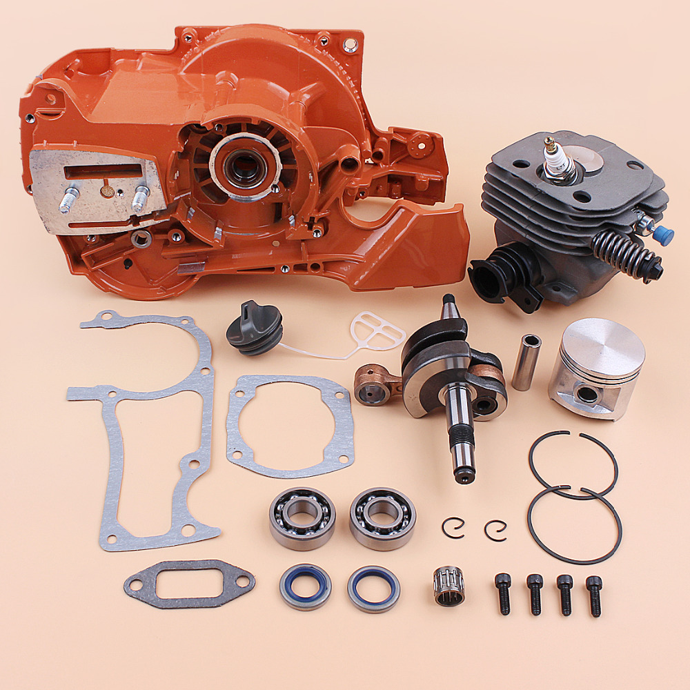 Kit Engine 372 HUSQVARNA  Spares 371 Bearing Piston Chainsaw 362  365 Rebuild Gas Fit Motor Crankcase 50MM Crankshaft Cylinder