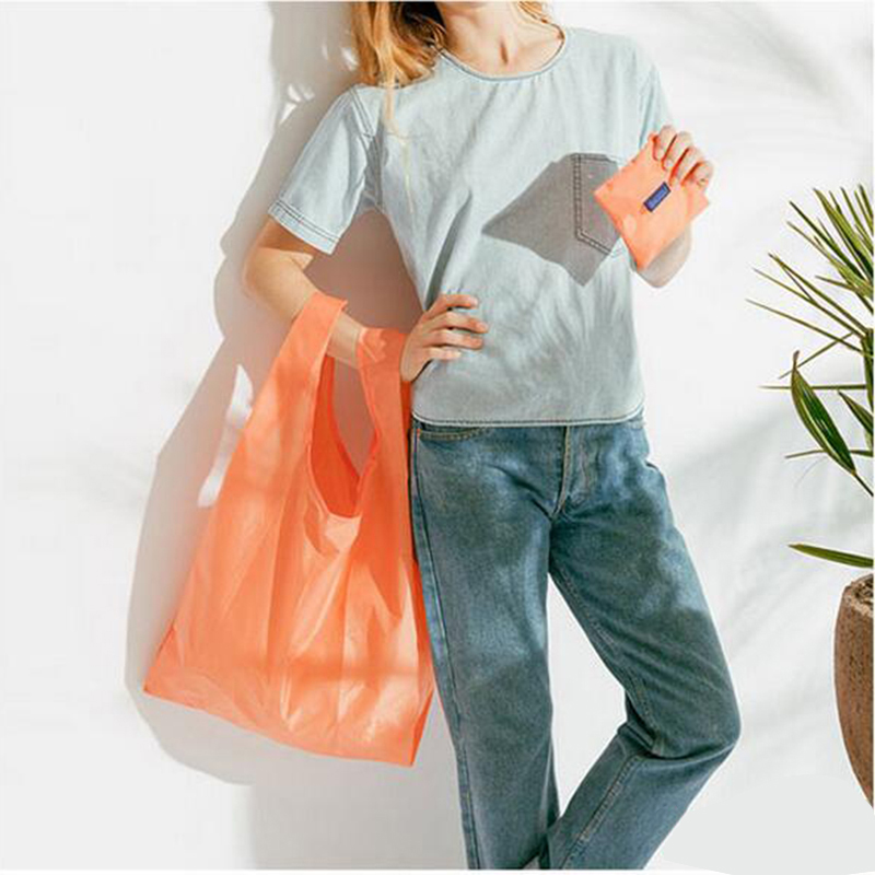 2017 Cabas Course Shopping Bag Candy colors Available Eco-friendly Reusable Folding Handle Foldable Bag Shopping Bags Reusable