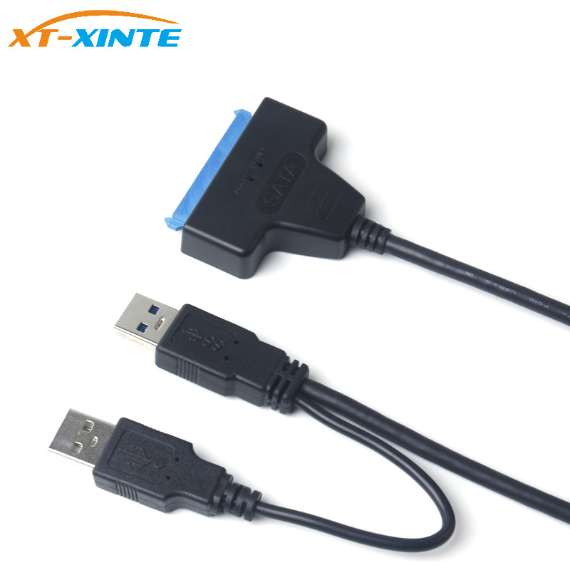 USB 3.0 to Sata 3 III 22Pin Adapter Cable 7+15pin Convertor with OTG for 2.5 SATA HDD SSD Hard Disk Drive USB2.0 Power Cable top quality latest useful usb 3 0 to 2 5 mobile hdd sata hard drive cable adapter for sata 3 0 ssd