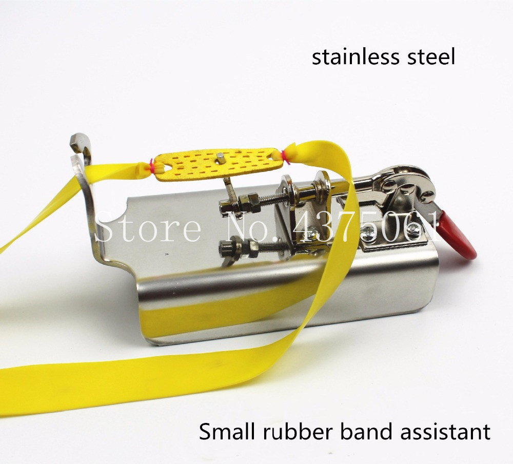Stainless Steel Slingshot Rubber Band Tied Assistant Accessory Durable~PL