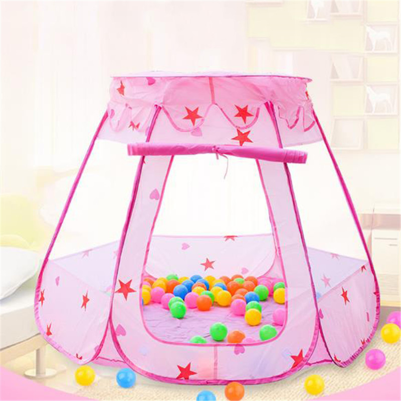 2019 New Style Kids Ocean Ball Pit Pool Toys Outdoor And Indoor Baby Toy Tents Baby Girls Fairy House Tent Princess Play Tent