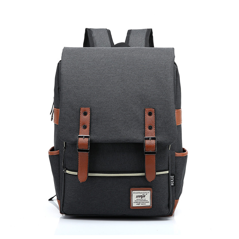 Men Vintage Casual Canvas Backpack For Women Organizer 20L Laptop Mochila 14 inch Cover Boys Mochilas Mujer 90s Sac A Dos casual canvas satchel men sling bag