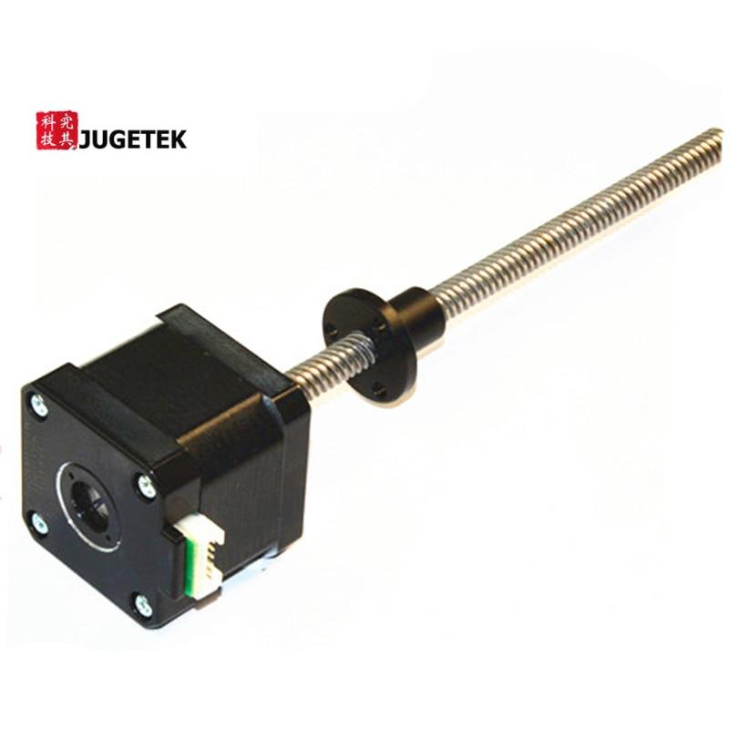 NEMA17 Threaded Rod, 460mm length Tr8*12 Acem Leadscrew nema17 linear stepper motors 460mm length tr8 12 acme leadscrew threaded