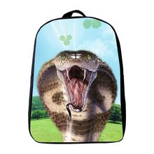 New Arrivals 12 Inches Polyester Printing Animal Snake Kindergarten Backpack for Infantile Schoolbag,Small Kids Baby School Bags(China)