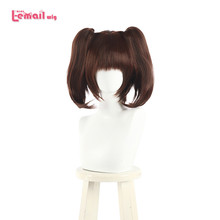 L-email wig The Seven Deadly Sins Diane Cosplay Wigs Brown Double Ponytails Heat Resistant Synthetic Hair Perucas Cosplay Wig цена