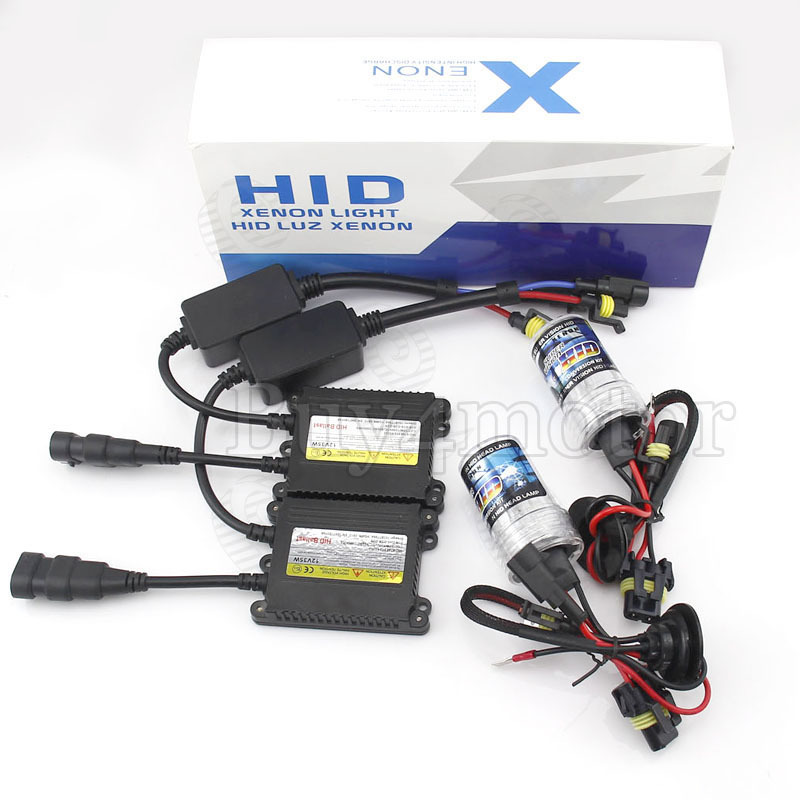 HID Xenon Conversion Kit 35W Car Headlight Slim Ballast lamps Bulb Single Beam H1 H3 H7 H8 H9 H10 4300K 5000K 6000K 8000K 10000K slim hid xenon ballast 880 4300k headlight kit conversion bulbs 35w [c476]