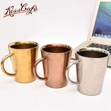 купить Simple Nordic Minimalism 304 Stainless Steel Coffee Cup With Handle Mug Beer Mug with Handle Cover Water Cafe Cup по цене 2314.76 рублей