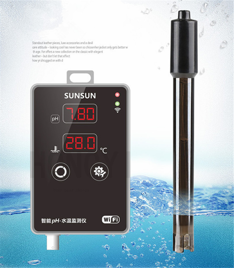 SUNSUN 1 piece APH 300 fish tank water quality PH tester aquarium PH tester thermometer high