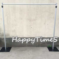 Wedding&Banquet Decoration 3M High 3M Wide Aluminum Pipe&Base Wedding Backdrop Stand Sturdy And Durable
