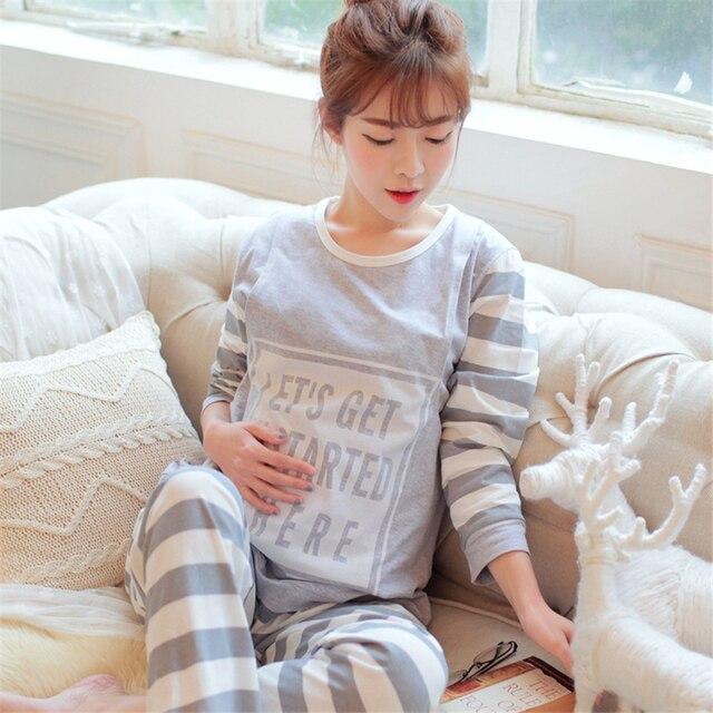 Cotton Maternity Sleepwear For Feeding Gown For Pregnant Women ...