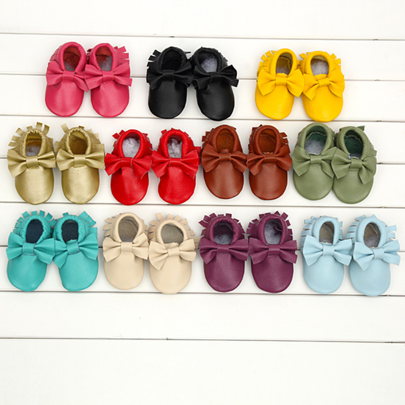 Genuine-Leather-Baby-moccasins-soft-baby-shoes-First-Walkers-indoor-Infant-bow-fringe-Toddler-Shoes-free-shipping-4