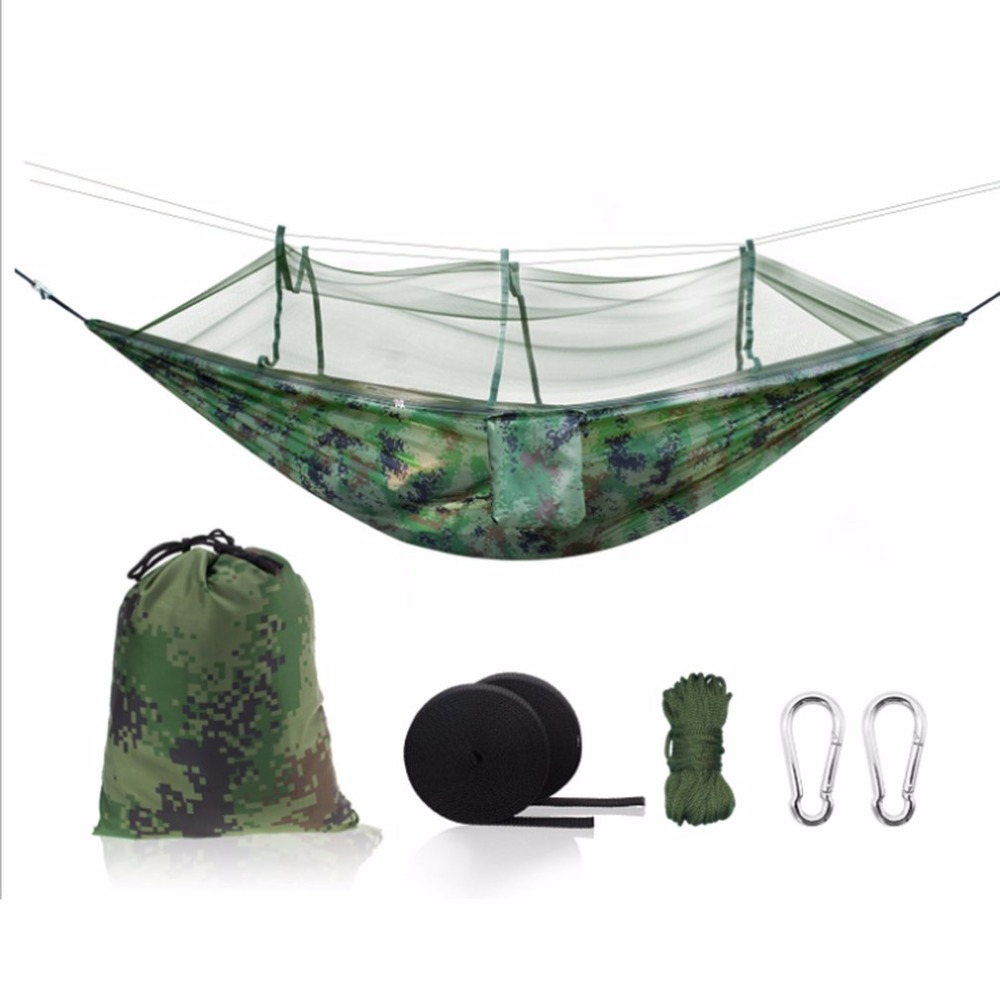 OUTAD Outdoor Mosquito Net Parachute Hammock Camping Hanging Sleeping Bed Swing Portable Double Chair for Camping Hunting outdoor net parachute hammock camping hanging sleeping bed swing portable