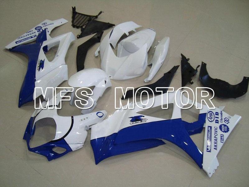 Для Suzuki GSXR 1000 К7 2007 2008 АБС впрыска Обтекателя комплекты GSXR1000 К7 07 08 - Иордания - белый/синий