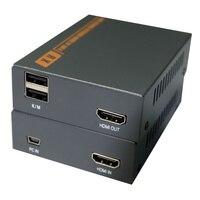 HT207KM KVM Extender HDMI + USB без потерь несжатого один кабель передачи 60 м