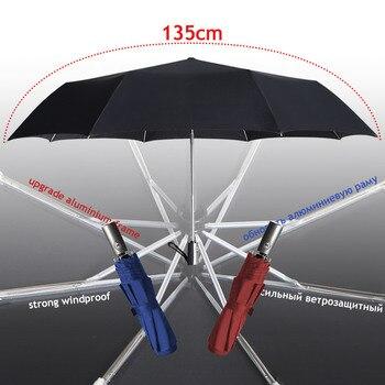 Paraguas grande de alta calidad de 120cm para hombre y lluvia, Parasol...