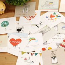 1Pcs New Cute Cartoon Wishes Life Heart Envelope Message Card Letter Stationary Storage Paper Gift E0354