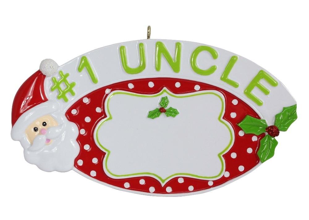 #1 tio Personalizado Enfeites de Árvore de Natal Do Polyresin como Lembrança Para A Relação Do Presente Do Feriado de Artesanato ou Decoração de Casa