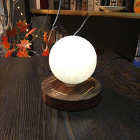 Magnetic Levitating 3D Moon Lamp Wooden Base 10cm Night Lamp Floating Romantic Light Home Decoration For