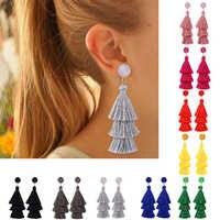 HOCOLE Boho Lange Quaste Ohrringe Multi farbe Fransen Aussage geometrie Lange Tropfen Ohrring Für Frauen Hochzeit Schmuck Bohemian2019