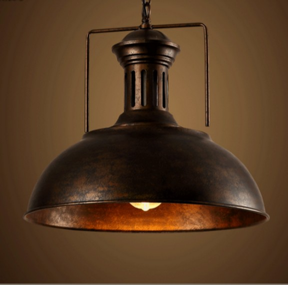 Industrial loft style antique lamp edison bulb vintage for Hanging light fixtures for dining room