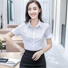 Women Blouses Women Tops Blusas Femininas Summer South Korea New Chiffon Shirt Sleeves Professional Ol Work Clothes School Girl