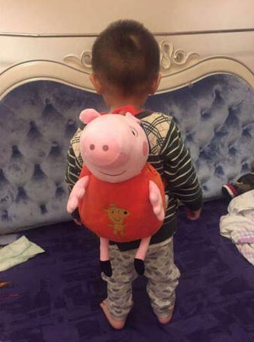 100% Genuine peppa pig 44cm Children's bags George Peppa Plush Backpack Kids Birthday Christmsa toy gift Hot sale 3