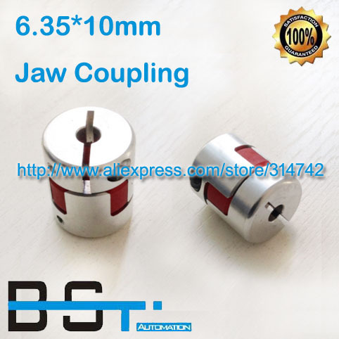 New 6.35mm to 10mm Spider Shaft Coupling 6.35x10mm Jaw Flexible Coupling Plum Coupler D25mm L30mm WHOSEESALE Price