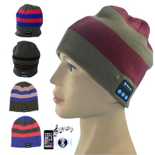 Unisex Knitted Winter Music MP3 Bluetooth Speaker Hat Women/Men Warm Hats Beanie for Phone