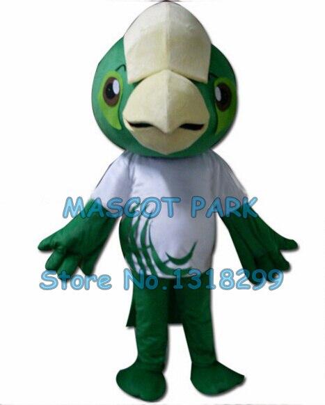 Зеленый попугай птица костюм талисмана оптовая взрослый размер hot sale персонажа из мультфильма ара птицы тема аниме cosply костюмы 2903