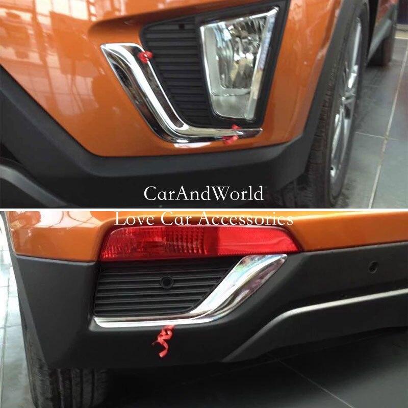 For Hyundai Kona 2018 2019 Chrome Front Fog Light Foglight: For 2015 2018 HYUNDAI Ix25 Creta Front Rear Fog Light Tail