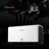 Air detection Dual core HEPA Air Purifier with air cleaner filters