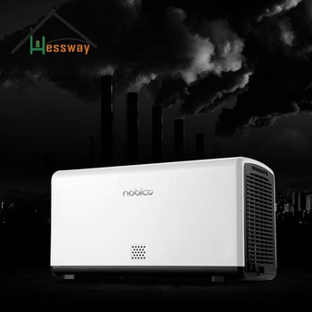Air detection Dual-core HEPA Air Purifier with air cleaner filters