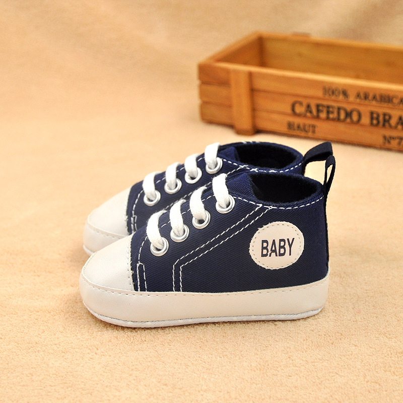 Hot Sale First Walkers 11~12.5cm Baby Fashion Children Shoes Child Sneakers Baby Boys&girls Canvas Sports Shoes Lace Up Candy