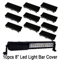 10pcs 8 INCH 6 Snap On LED Work Light Bar Dust Proof Protective Covers 4x4 Amber