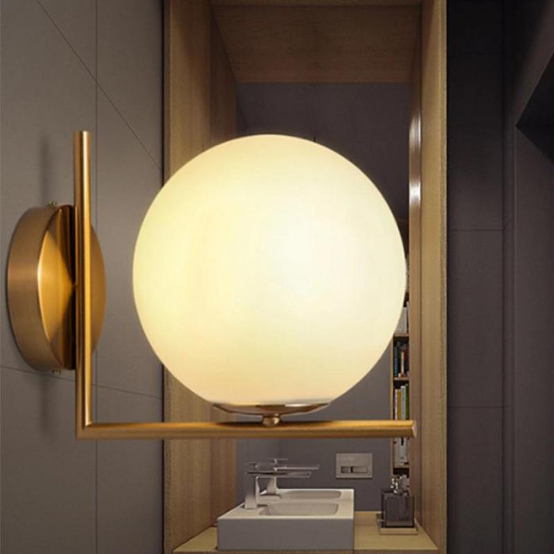 Modern Led Wall Lamp Sconce For Living Room Bedroom Wall Light Iron Body Glass Lamps Outdoor Wall Lamp Bathroom Light modern cute cartoon cat wall lamp kids bedroom night light led fixture for living room corridor 110v 220v wall light sconce
