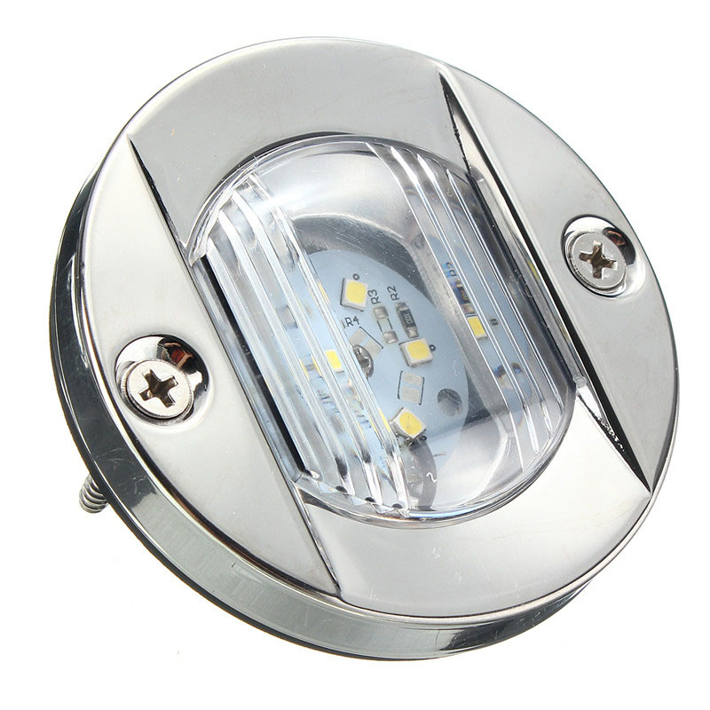 Image 4 - 12V Marine Boat LED Stern Light Transom Stainless Steel White Round Tail Light Waterproof-in Marine Hardware from Automobiles & Motorcycles