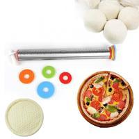 Nieuwe 1 st Rvs Deegroller 4 Verstelbare Discs Non-stick Verwijderbare Ringen Deeg Dumplings Noedels Pizza Bakken gereedschap