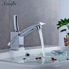 Сюэцинь уникальный Дизайн Chrome Кухня бассейна воду раковины кран смесителя Одной ручкой холодной ванной кран