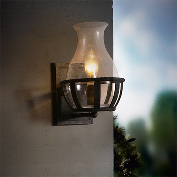 Loft American Retro Light Nostalgia Glass Bottle Iron Wall Lamp Simple Industry Courtyard E14 LED Decoration Hanging Lighting