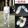 2016 new summer star with a solid diamond ladies casual female lace up shoes two wear a half dragged tide