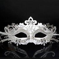 Cadılar bayramı Makyaj Top Prenses Maske Yarım Yüz Metal Venedik Maske Cosplay Tilki Maskesi sd075