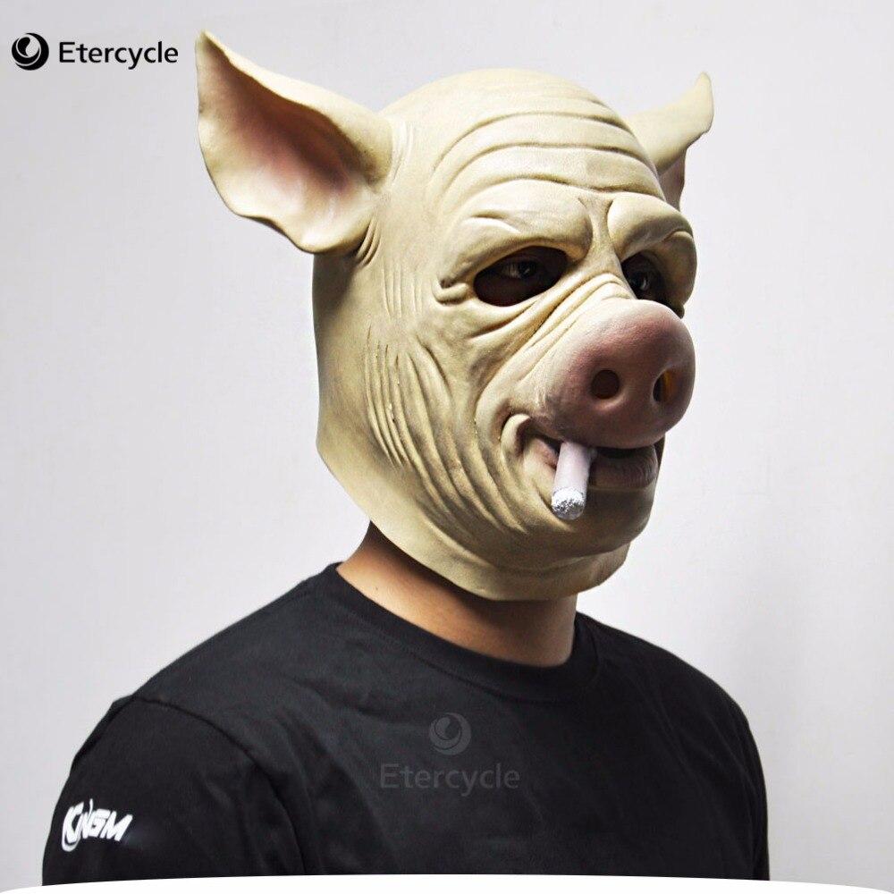 Cigar Hog Mask Game H1Z1: Kill of the King Cosplay Full Head Latex Pig Masks for Halloween