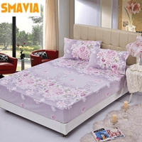 Hot Sale Printing Bed Sheet 100 Polyester Bedspread Protective Mattress Cover Fitted Bed Sheet With 2