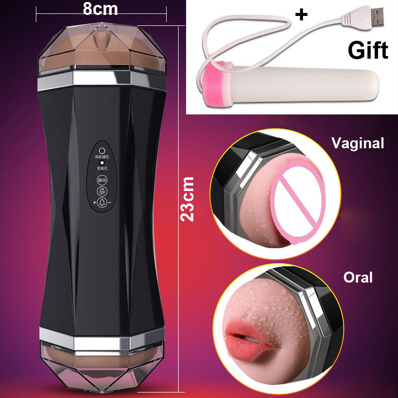 Multi-frequency Male Masturbator for man Realistic Vagina real Pussy pump Erotic toys Vibrator for men Oral sex machine Blowjob wowyes 3d realistic vagina sex toys for men real pussy male masturbator stereo pronunciation 12 frequency vibrator sex products