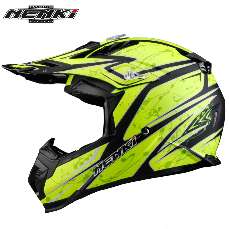 NENKI Motorcycle Helmet Motocross Full Face Helmet Men Extreme Sports Motorcycle ATV Dirt Bike MX BMX DH Racing Off-road Helmet crf50 frame battery box dirt pit bike case holder off road motorcycle apollo 110 chinese motocross