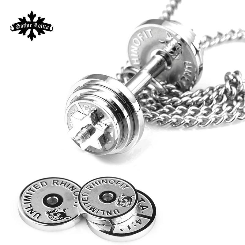Dumbbell Splicing pendant necklaces Men
