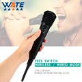 Professional Wired Wireless Microphone Uni-directional Handheld Microphone with Receiver for KTV Club Party Karaoke Singing